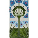 PA-085 Painel friso floral (2 azulejos)